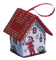 Дом Санта-Клауса вышитый крестом