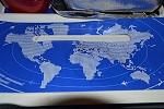 карта мира и вышивка
