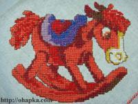Красный конь качалка