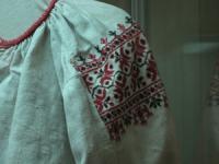 Фрагмент вышитой сорочки (музей в селе Прохоровка)