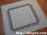 Красно-зеленая салфетка
