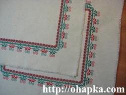 Красно-зеленые салфетки (фрагмент углов)