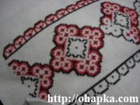 фрагмент вышиваемой салфетки