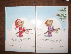вышиваем новогоднюю открытку