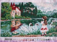 Девочка и лебеди. Матренин посад.