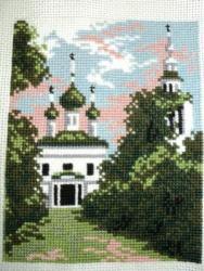 Пейзаж с храмом