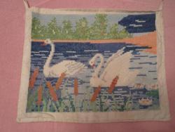 Лебеди - старинная вышивка