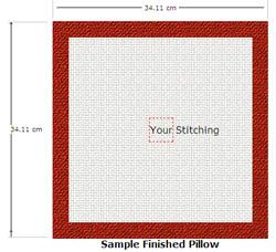 расчёт канвы для вышивания подушки