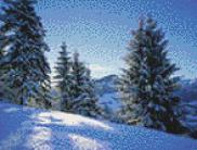 вышивка крестиком зима
